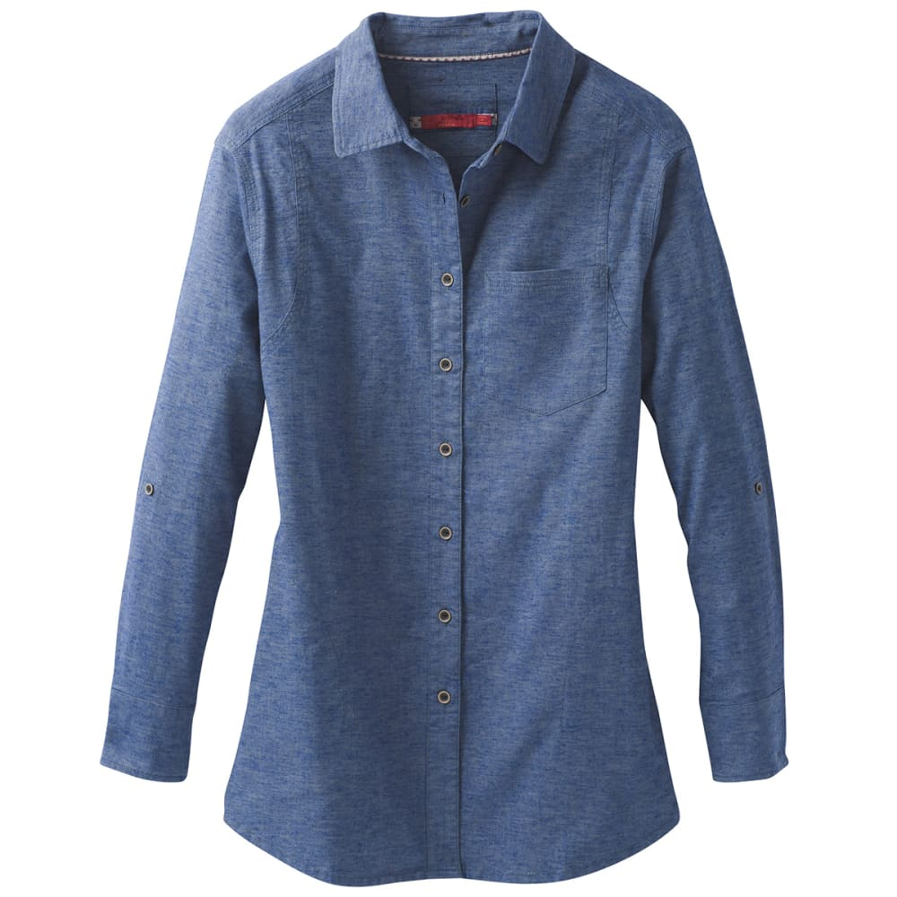 PRANA Womens Aster Long-Sleeve Tunic Top - WEATHER BLUE