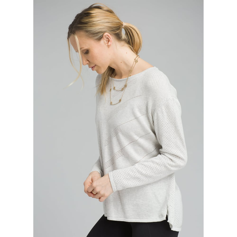 PRANA Womens Mainspring Long-Sleeve Sweater - BONE HEATHER