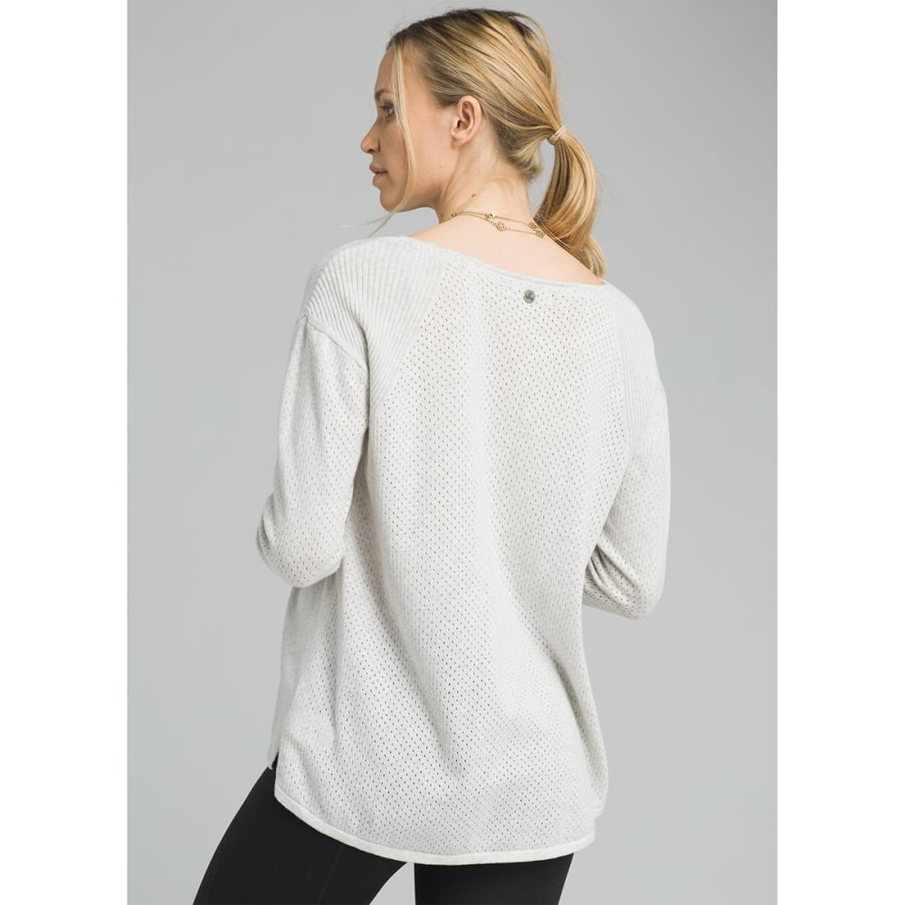 PRANA Women's Mainspring Long-Sleeve Sweater - BONE HEATHER