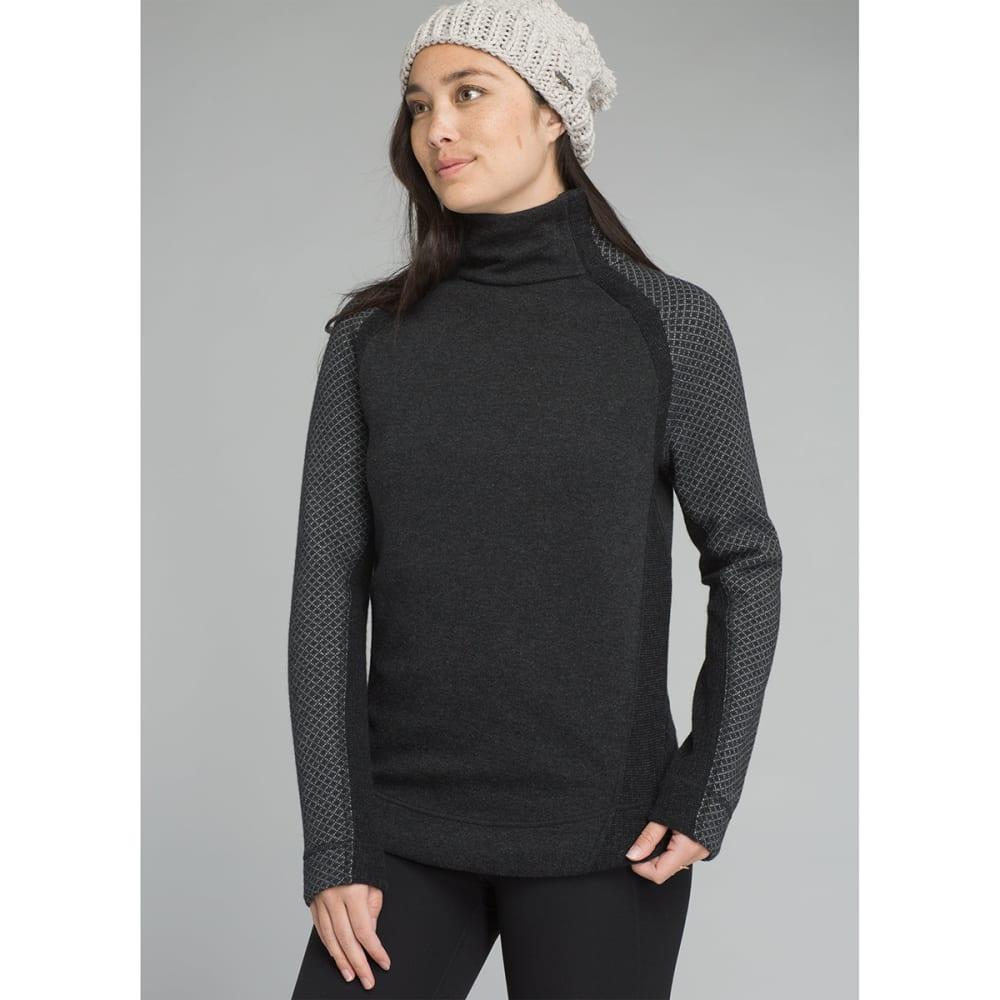 PRANA Women's Brandie Long-Sleeve Sweater - CHARCOAL