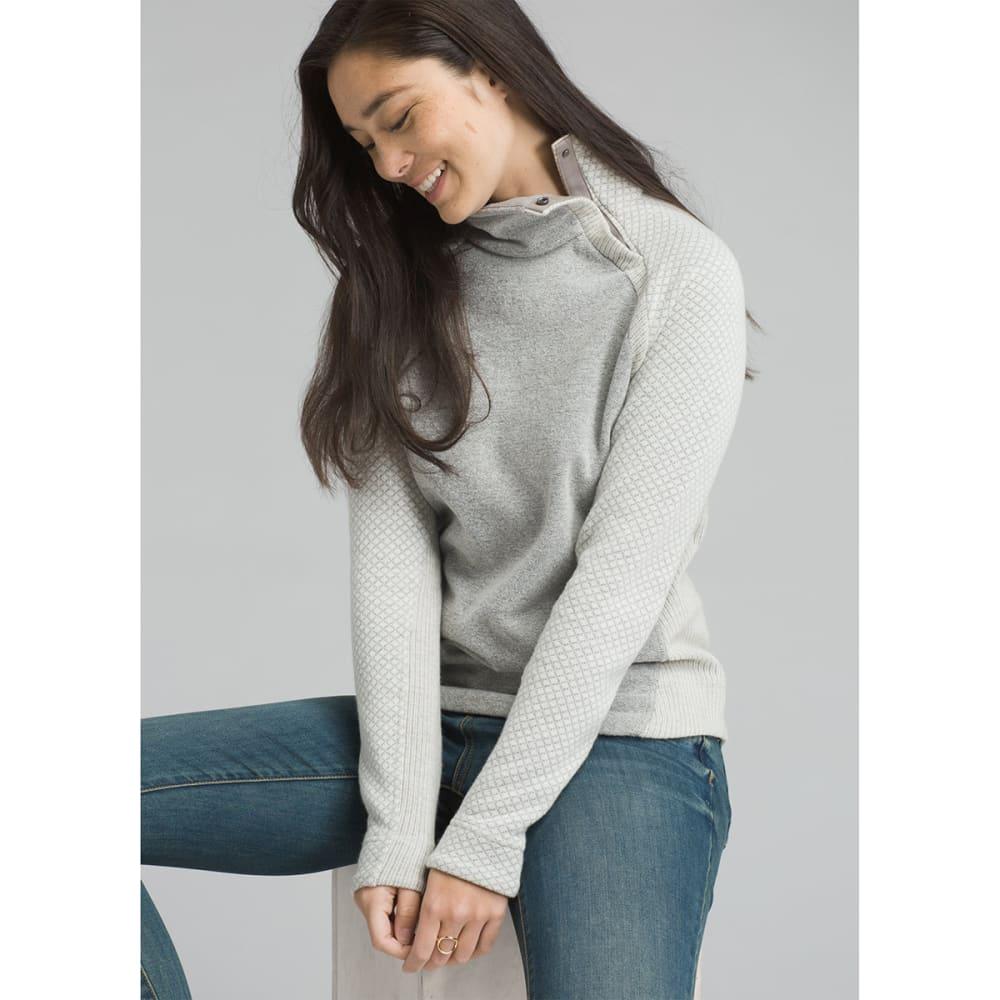 PRANA Women's Brandie Long-Sleeve Sweater - BONE HEATHER