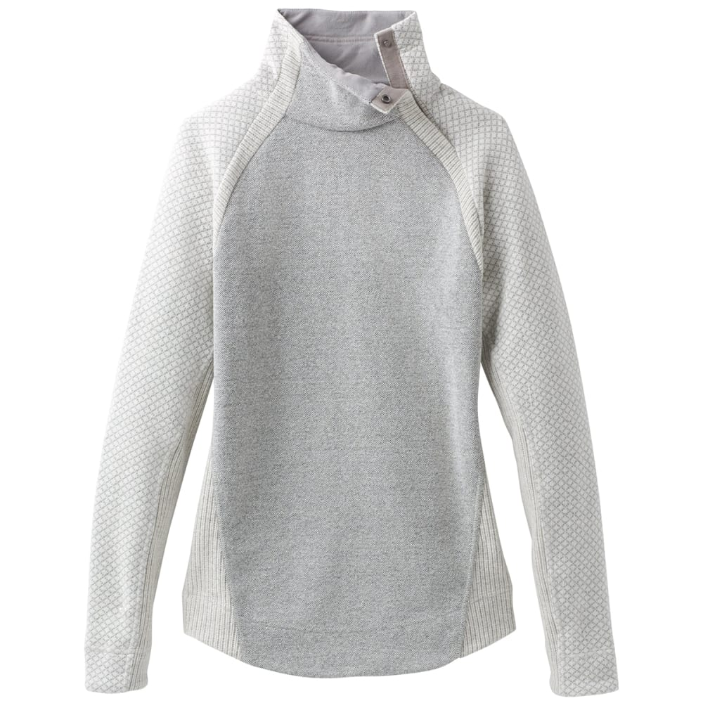 PRANA Women's Brandie Long-Sleeve Sweater - BONE HEATHER