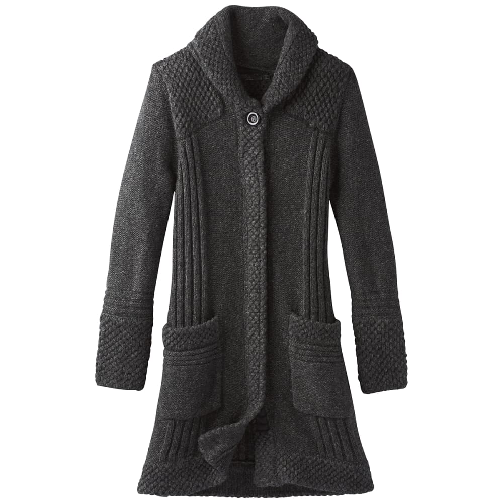 PRANA Womens Elsin Sweater Coat - BLACK