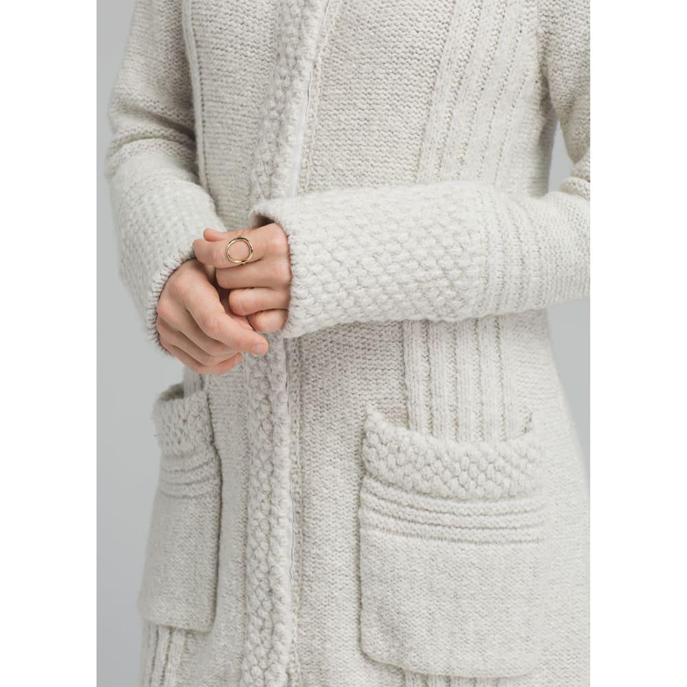 PRANA Womens Elsin Sweater Coat - BONE HEATHER