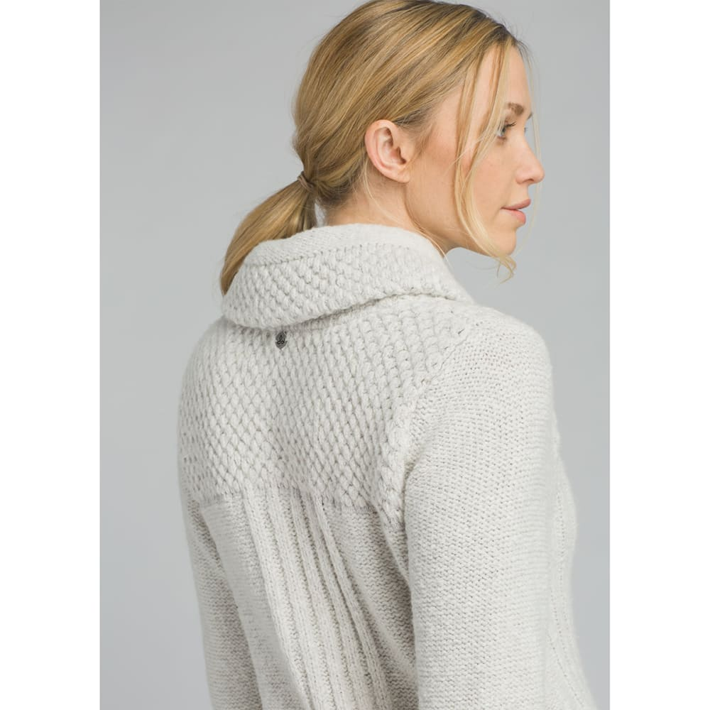 PRANA Womens Elsin Sweater Coat - BONE HEATHER