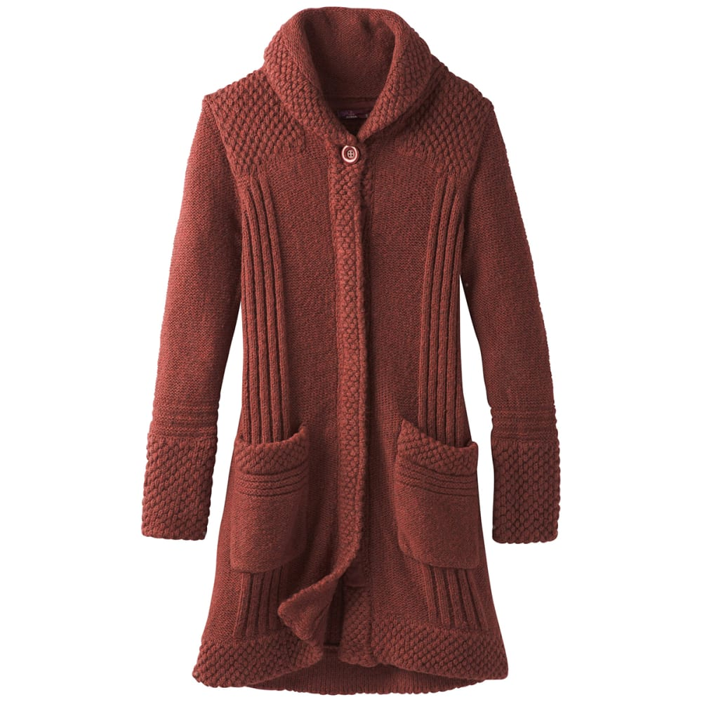 PRANA Womens Elsin Sweater Coat - MULLED WINE
