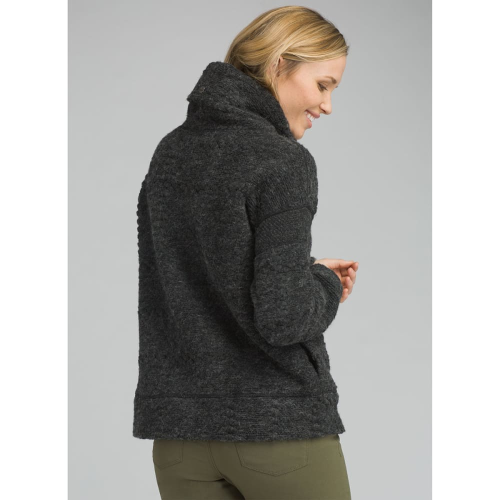PRANA Womens Crestland Sweater Pullover - CHARCOAL HEATHER