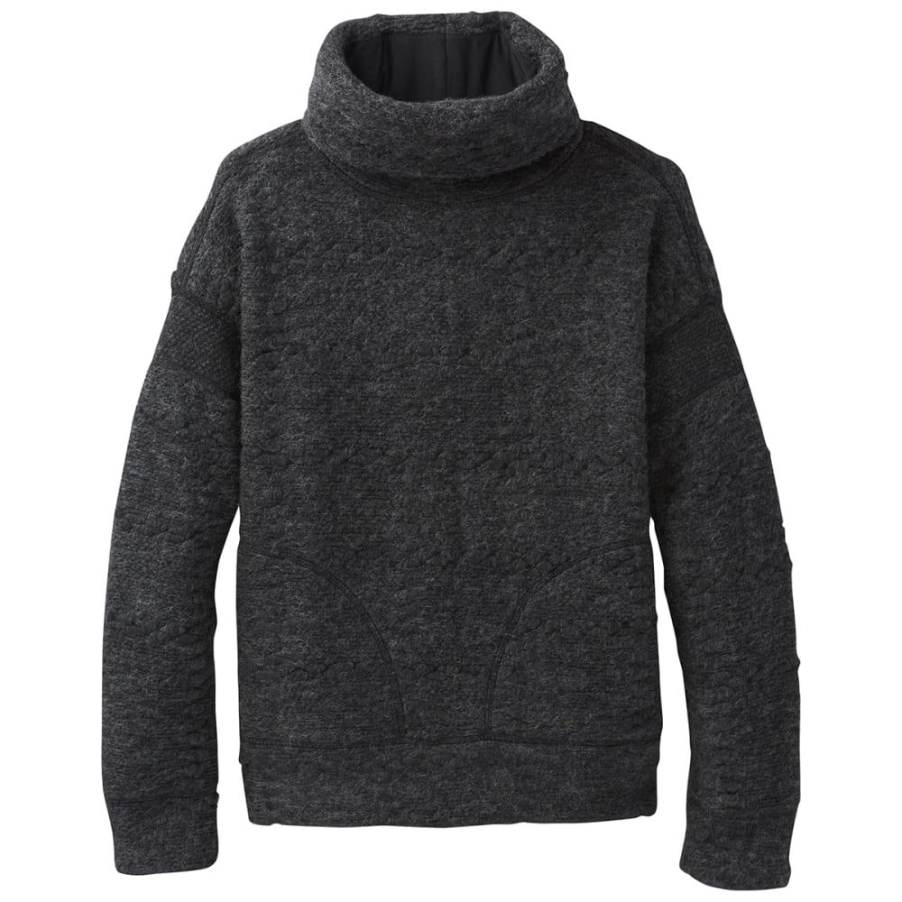 PRANA Womens Crestland Sweater Pullover - CHARCOAL HEATHER