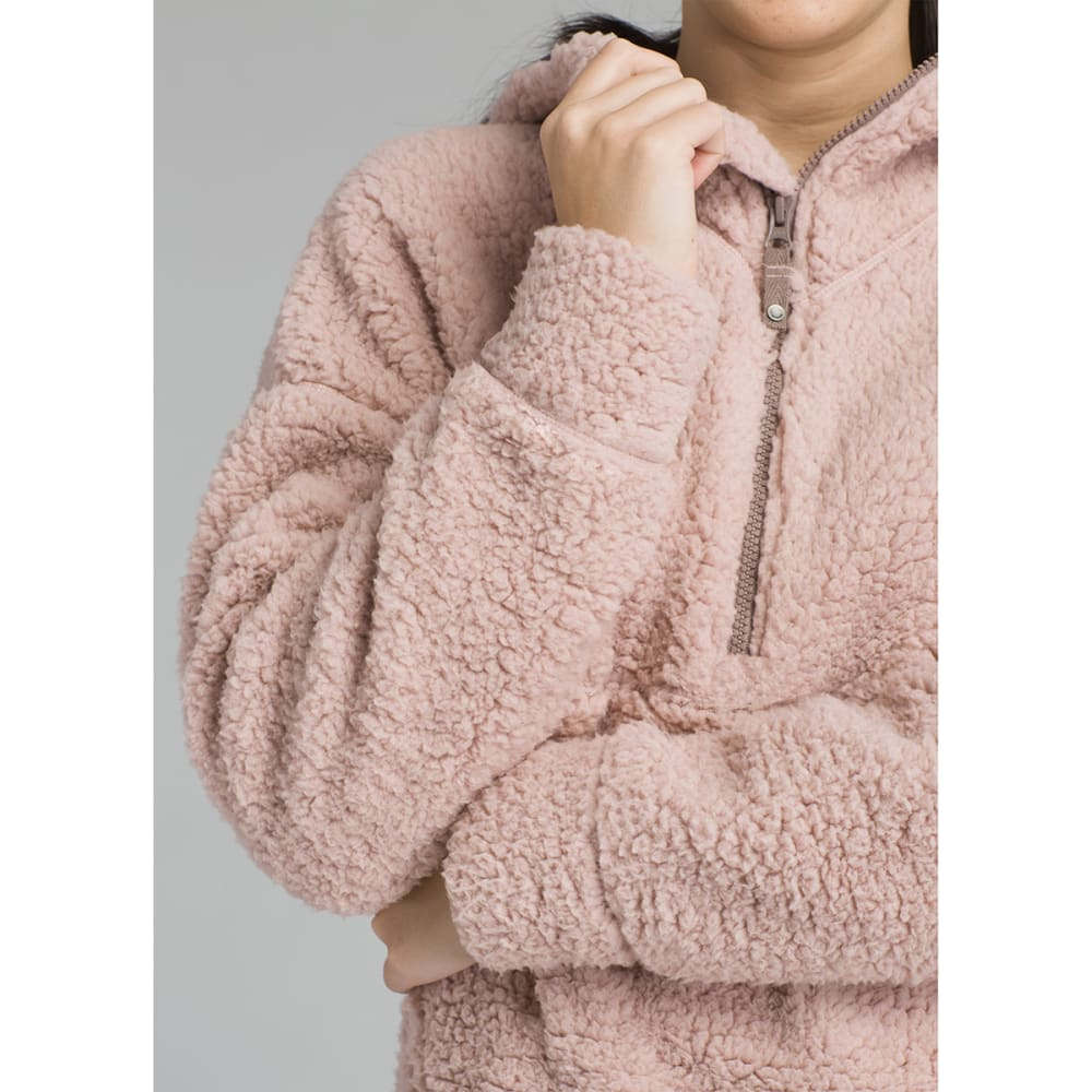 PRANA Women's Permafrost Half-Zip Pullover Hoodie - KHAKI ROSE