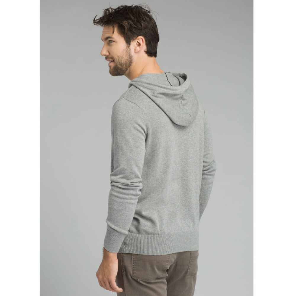 PRANA Men's Throw-On Hooded Sweater - HEATHER GREY