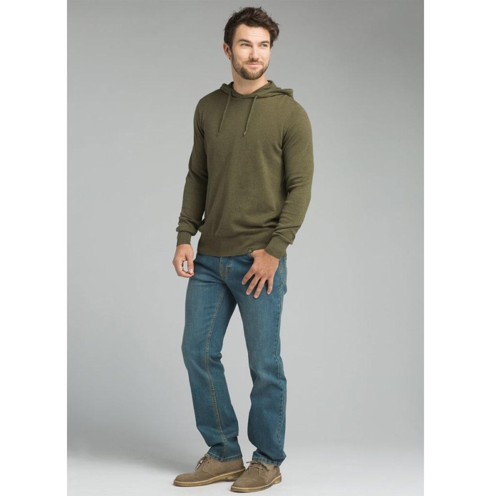PRANA Men's Throw-On Hooded Sweater - CARGO GREEN
