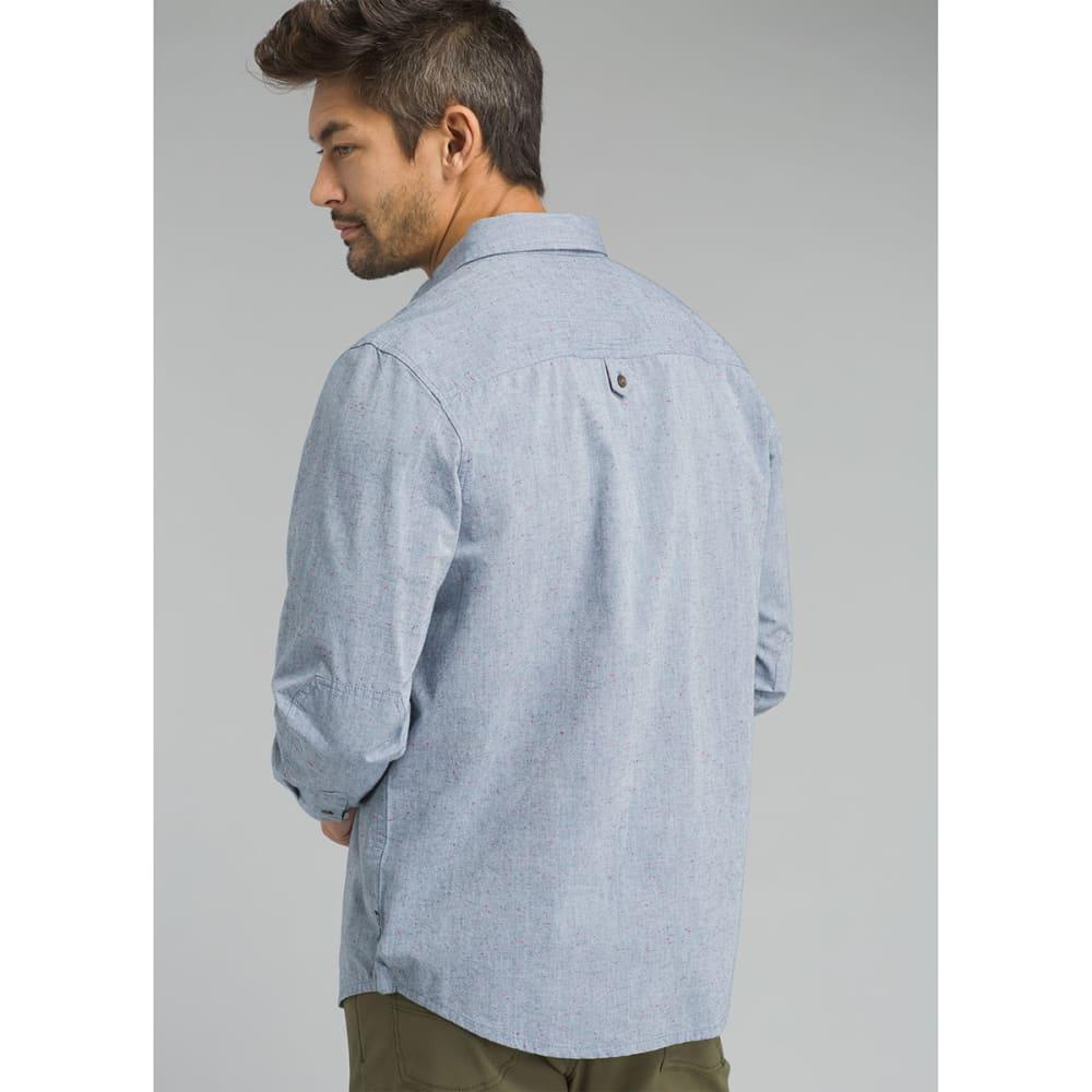 PRANA Men's Dilettante Long-Sleeve Shirt - NAUTICAL