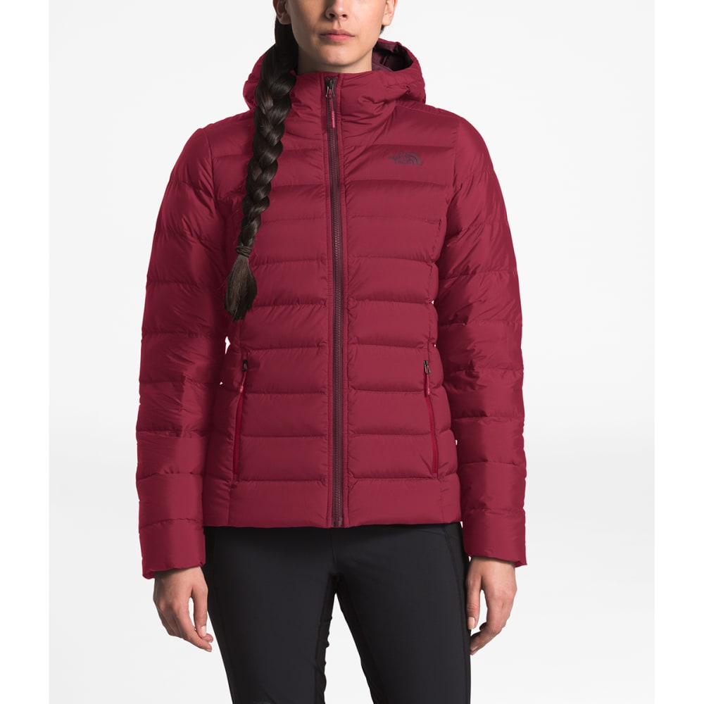 THE NORTH FACE Women's Stretch Down Hoodie - 3YP RUMBA RED