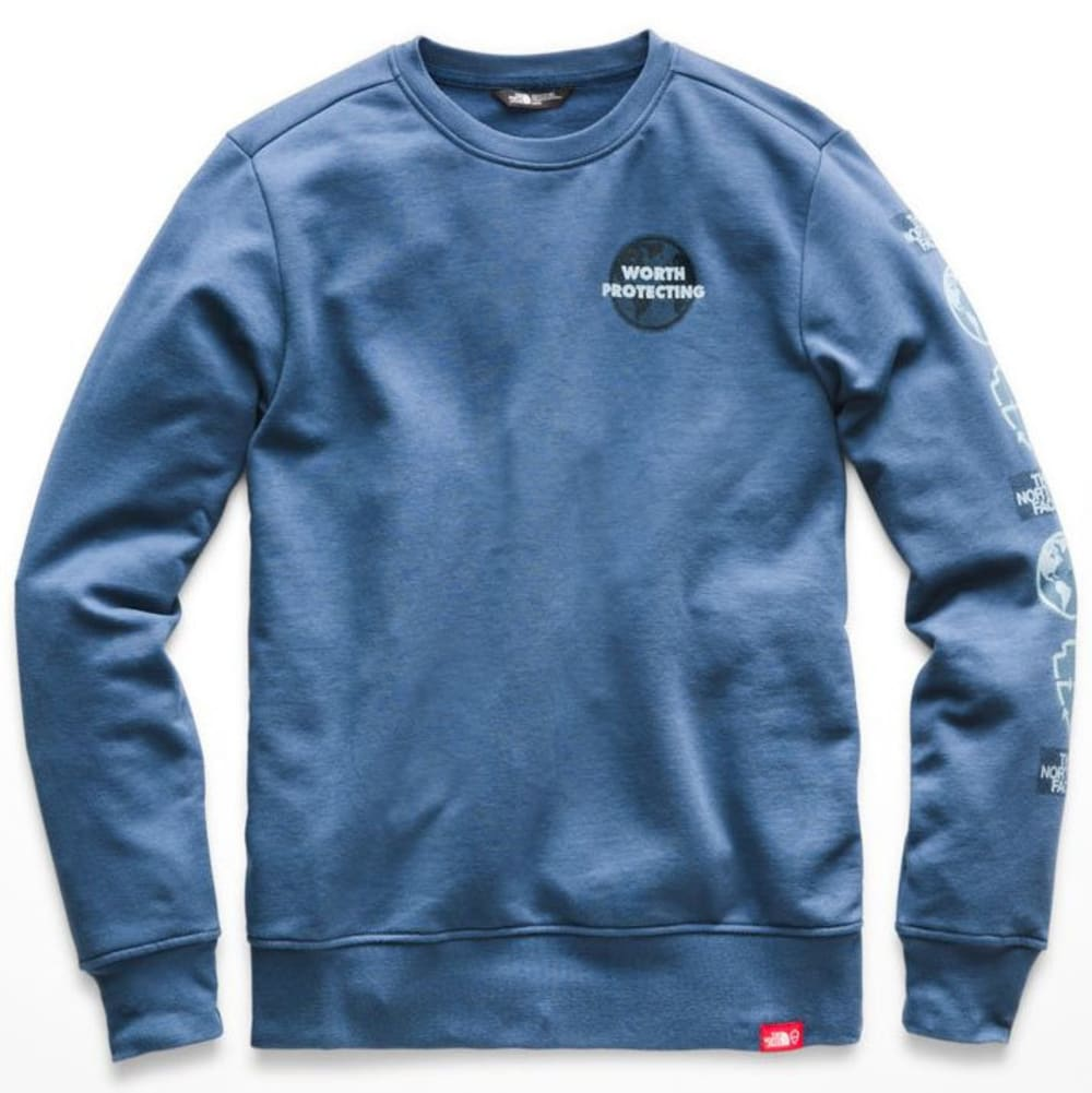 THE NORTH FACE Men's Defend Bottle Source Crew Pullover - HDC-SHADY BLUE HTR/G