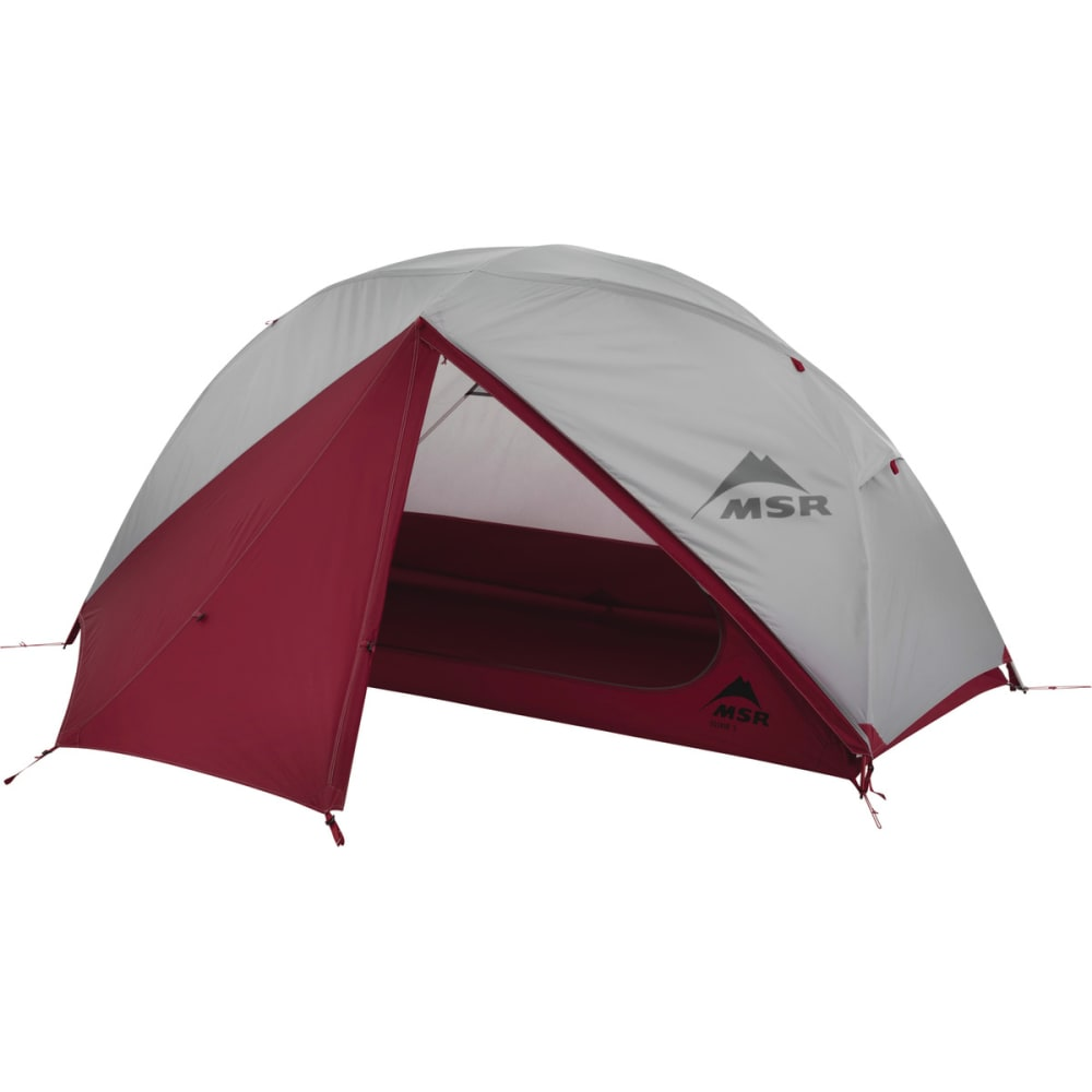 MSR Elixir 1 Backpacking Tent - WHITE/RED