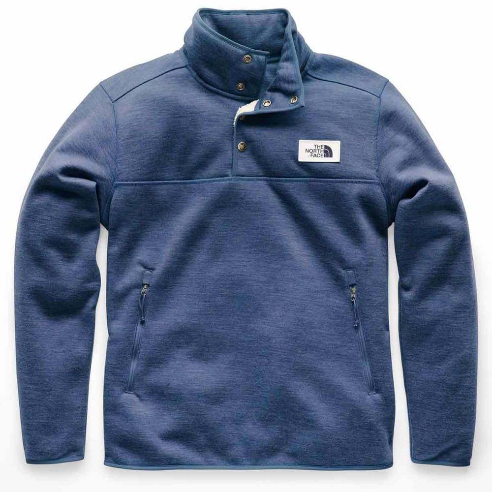 THE NORTH FACE Mens Sherpa Patrol 1/4 Snap Pullover - HKW-SHADY BLU HEATHE