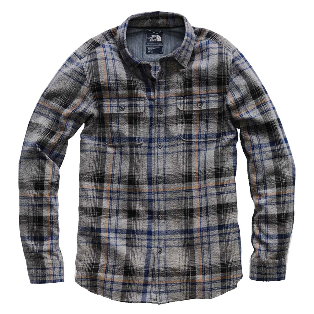 THE NORTH FACE Men's Arroyo Long-Sleeve Flannel Shirt - 6BU-ASPHALT GREY