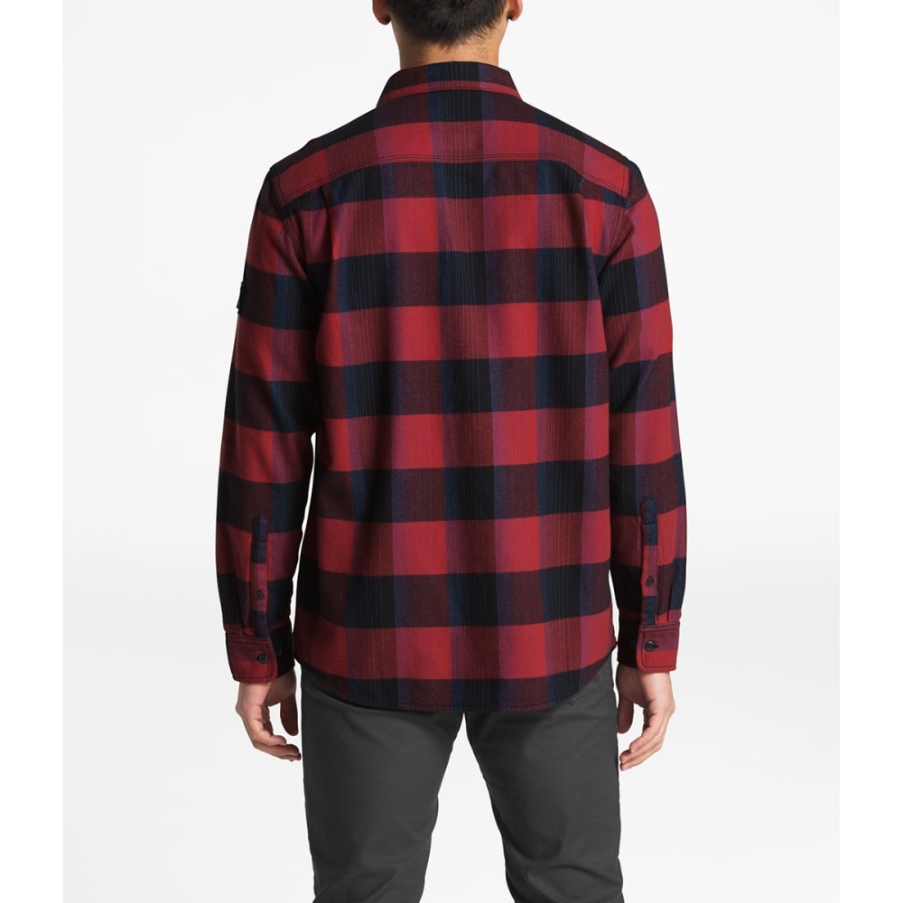 THE NORTH FACE Men's Stayside Long-Sleeve Shirt - 6YH CALDERRA RED BOW