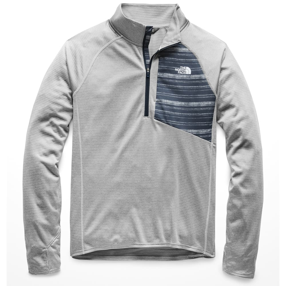 THE NORTH FACE Men's Winter Warm Half Zip Pullover - X8A-MID GREY HEATHER