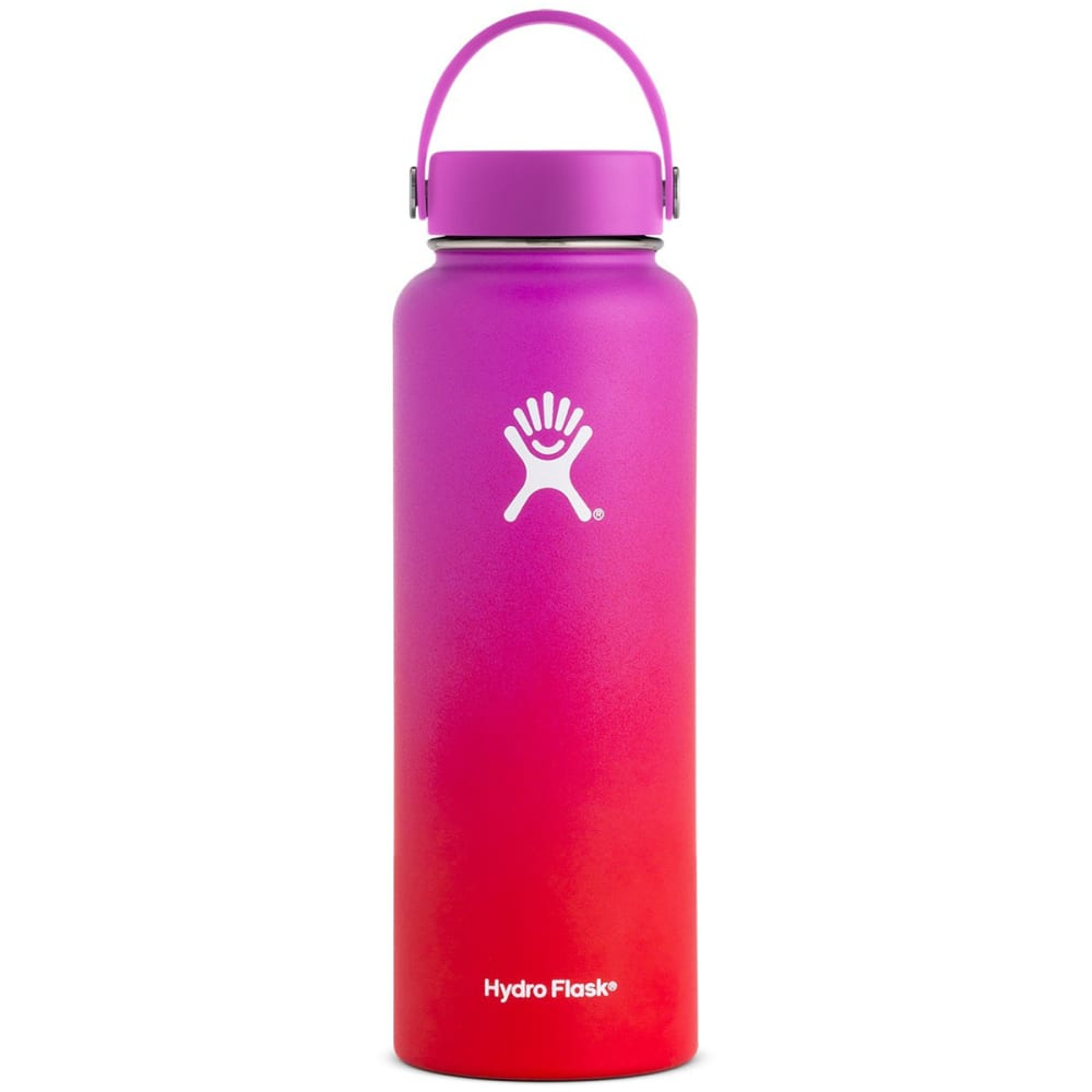 HYDRO FLASK 40 oz. Wide Mouth PNW Collection Water Bottle - RASPBRRY/LAVA 620611