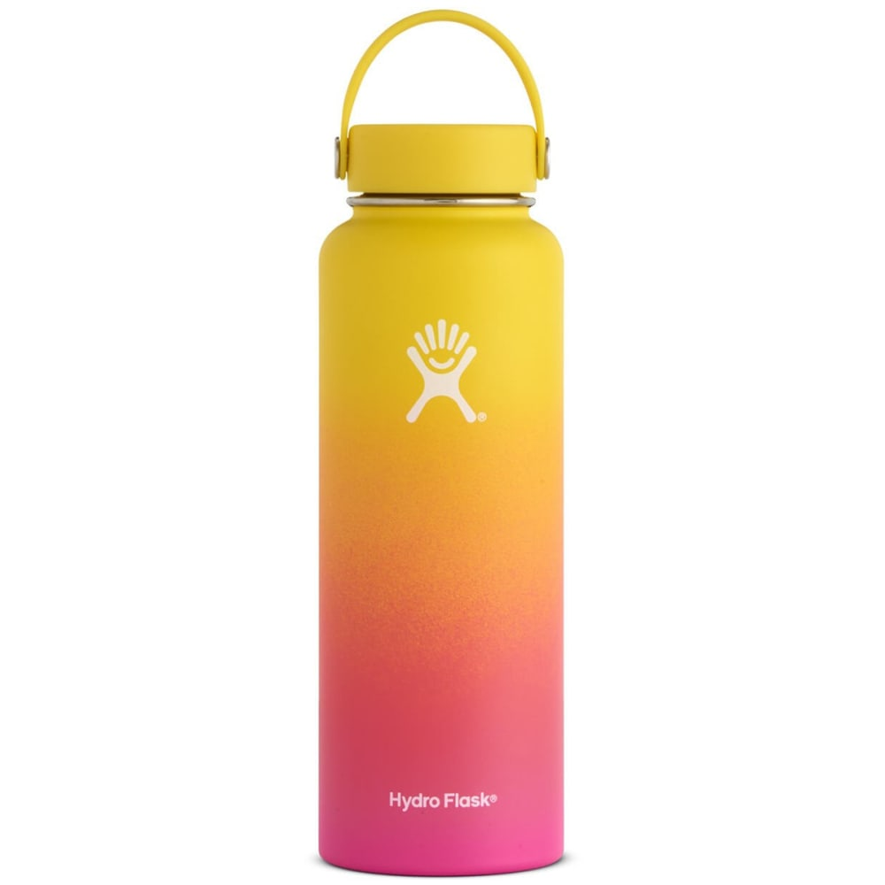 HYDRO FLASK 40 oz. Wide Mouth PNW Collection Water Bottle - LEMON/FLMNGO 740625