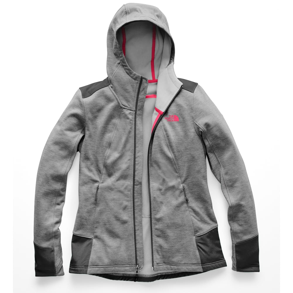 THE NORTH FACE Women's Shastina Stretch Full-Zip Hoodie - HAT-TNF MED GREY HTR