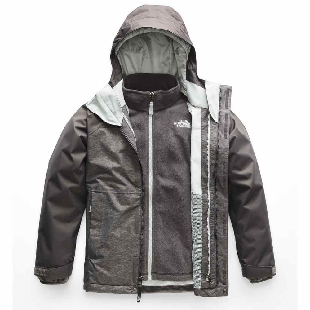 THE NORTH FACE Big Boys' Vortex Triclimate® Jacket - DYY-TNF MED GREY HEA