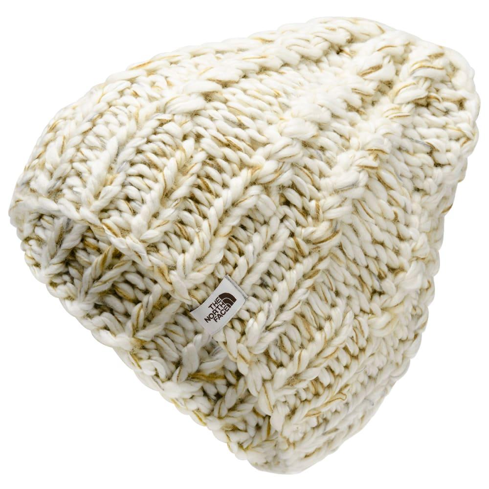 THE NORTH FACE Women's Chunky Knit Beanie - HZ1 VINT WTE BR TAN