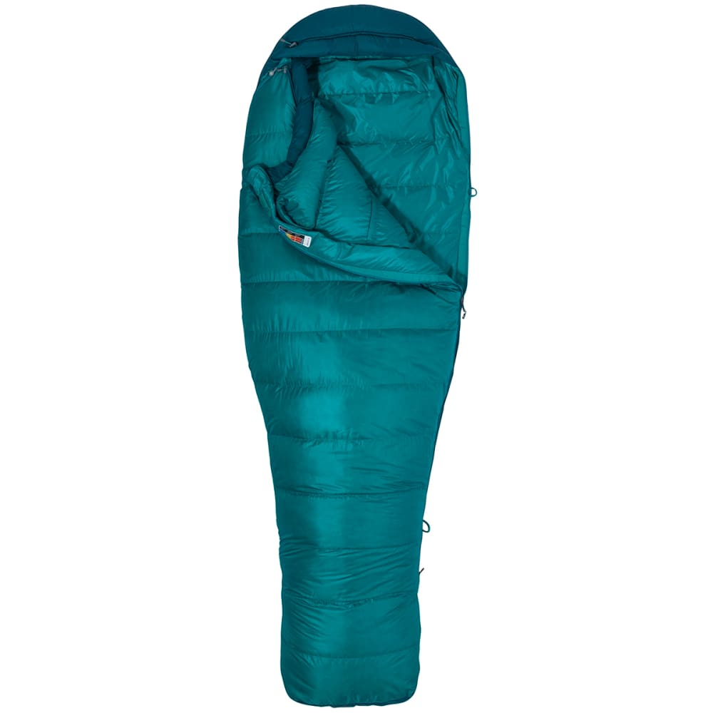 MARMOT Women's Angel Fire 25 Sleeping Bag, Regular - MALACHITE/DEEP TEAL