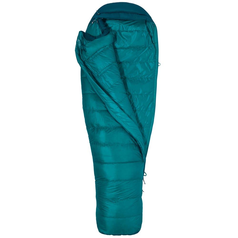MARMOT Women's Angel Fire 25 Sleeping Bag, Regular - MALACHITE/DEEP TEAL