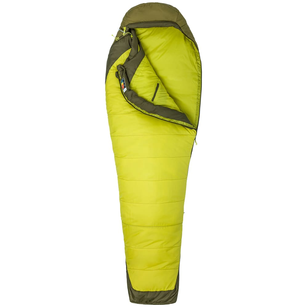 MARMOT Trestles Elite 30 Sleeping Bag, Long - CITRONELLE/FIR GREEN