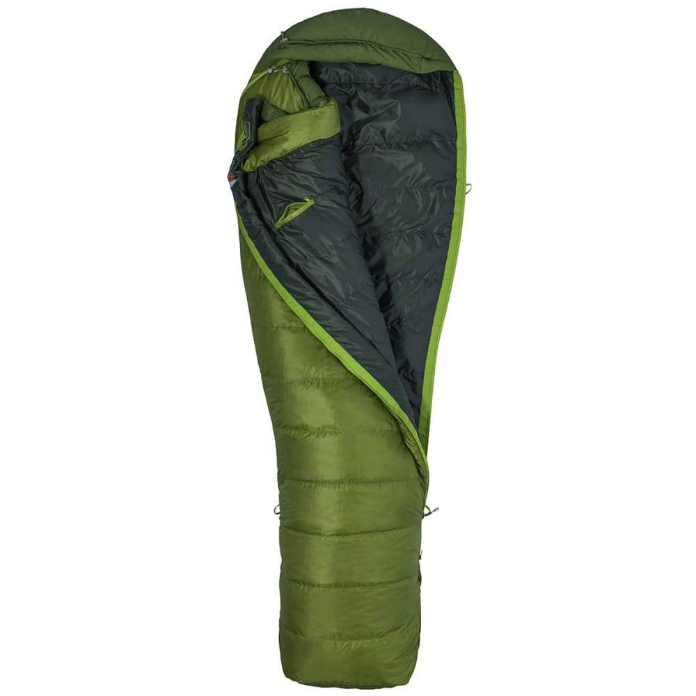MARMOT Never Winter Regular Sleeping Bag - CILANTRO/TREE GREEN