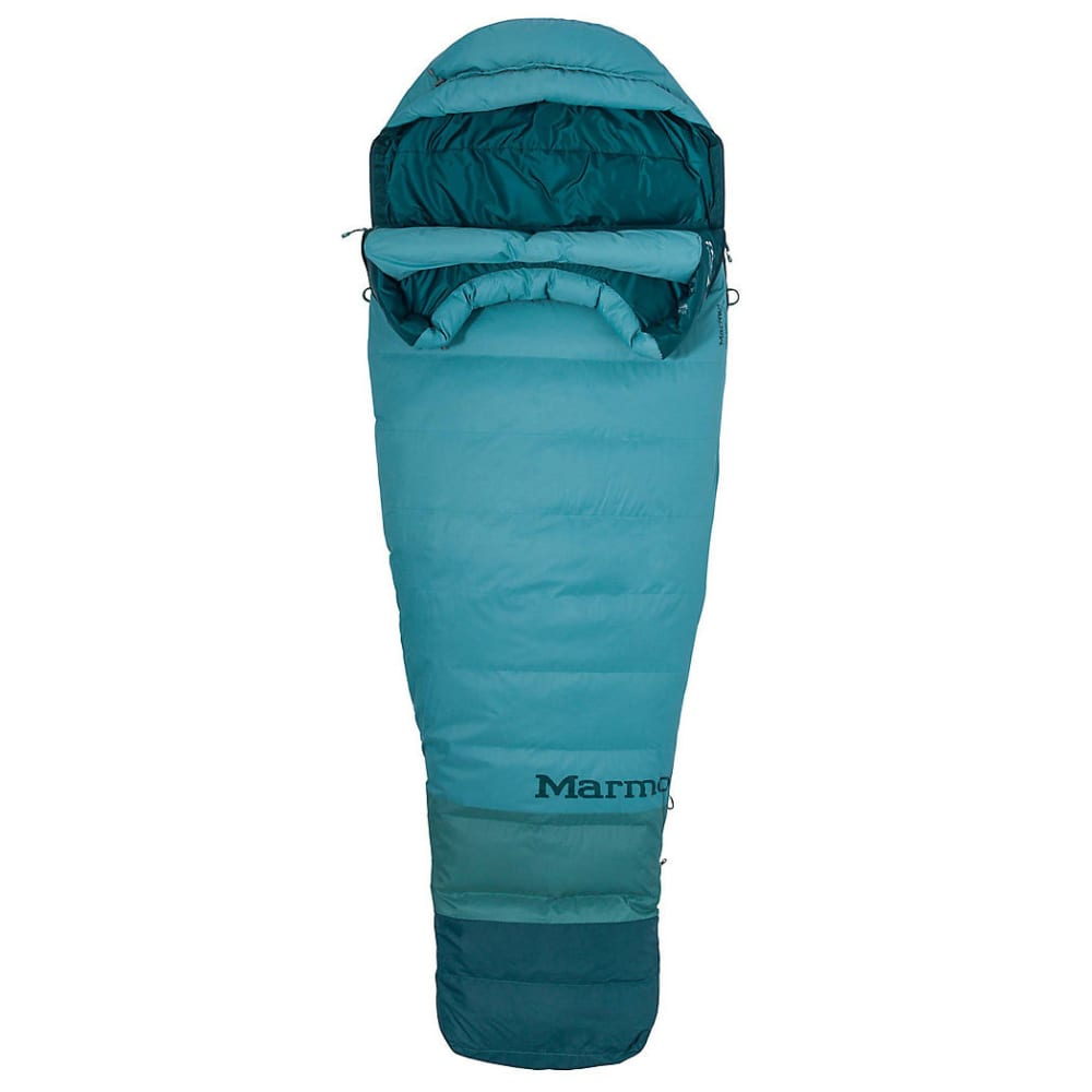 MARMOT Women's Angel Fire TL Sleeping Bag, Long - BLUE AGAVE/DARK AGV