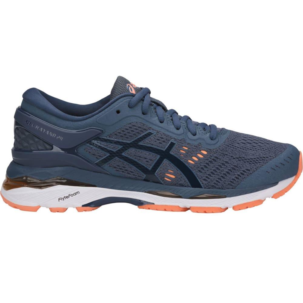 ASICS Women's GEL-Kayano 24 Running Shoes - SMOKE BLUE - 5649