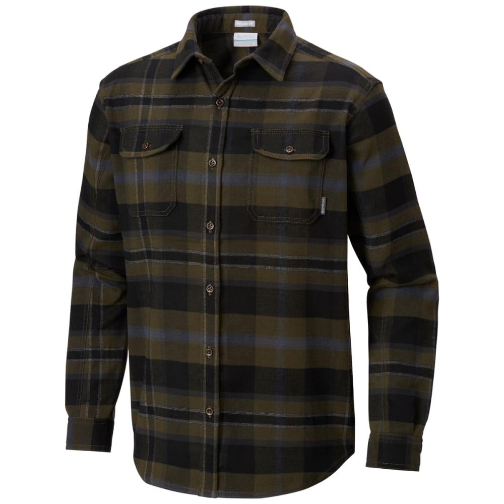 COLUMBIA Men's Deschutes River Heavyweight Flannel Shirt - 213-PEAT MOSS PLAID
