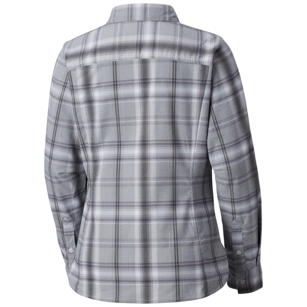 COLUMBIA Women's Silver Ridge Long-Sleeve Flannel Shirt - 031-CIRRUS GREY