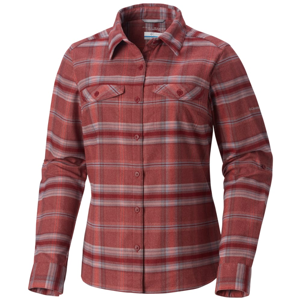 Columbia Women's Silver Ridge Long-Sleeve Flannel Shirt - Size S