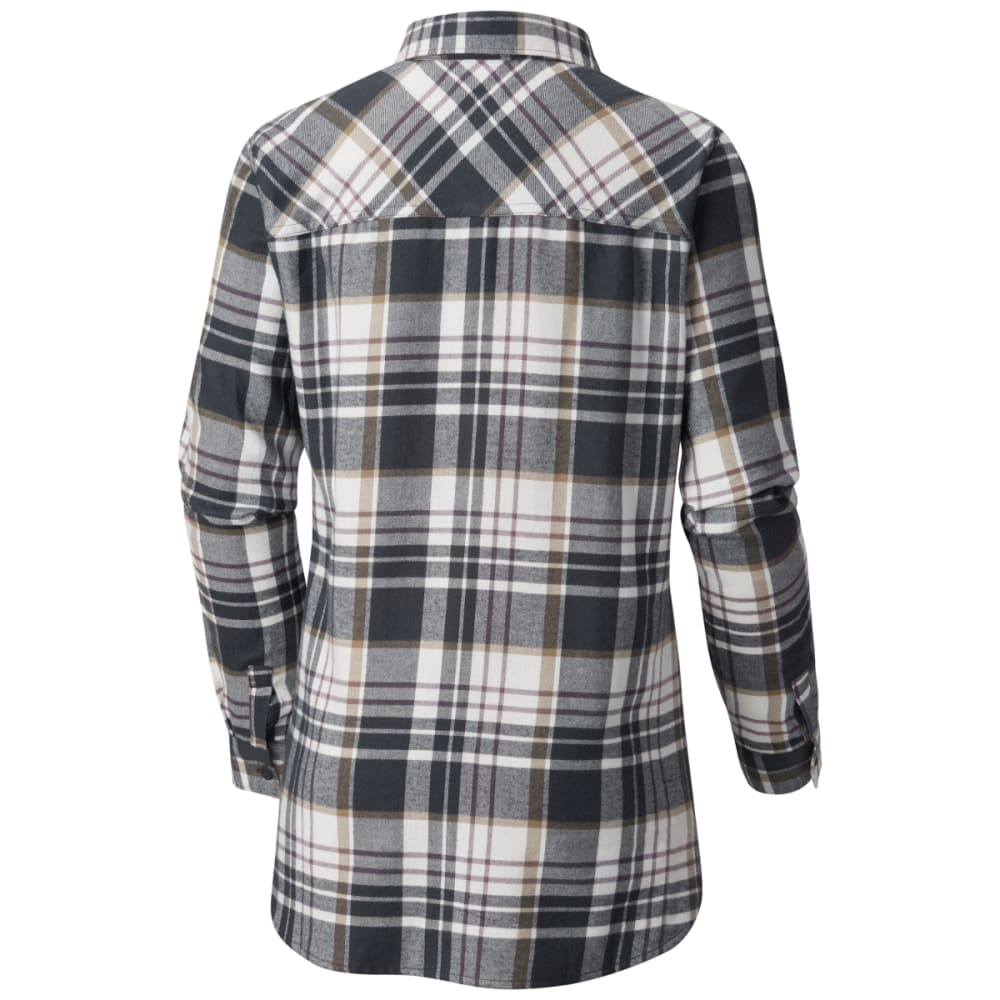 COLUMBIA Women's Simply Put II Long-Sleeve Flannel Shirt - 011-SHARK PLAID