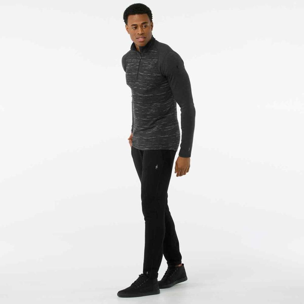 SMARTWOOL Men's Merino 250 ¼-Zip Base Layer Top - 698-CHARCOAL BLACK