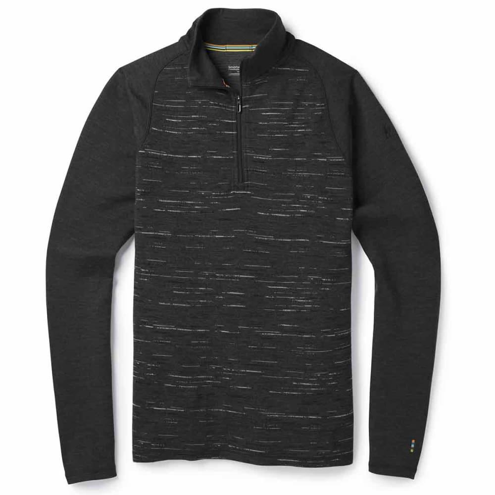 SMARTWOOL Men's Merino 250 Quarter Zip Base Layer Top - 698-CHARCOAL BLACK