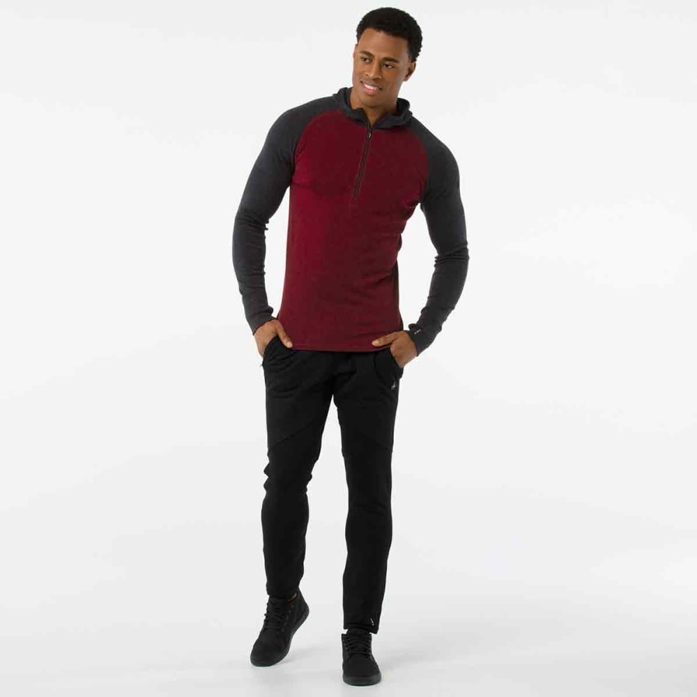 SMARTWOOL Men's Merino 250 Base Layer Hoodie - A14-TIBETAN RED