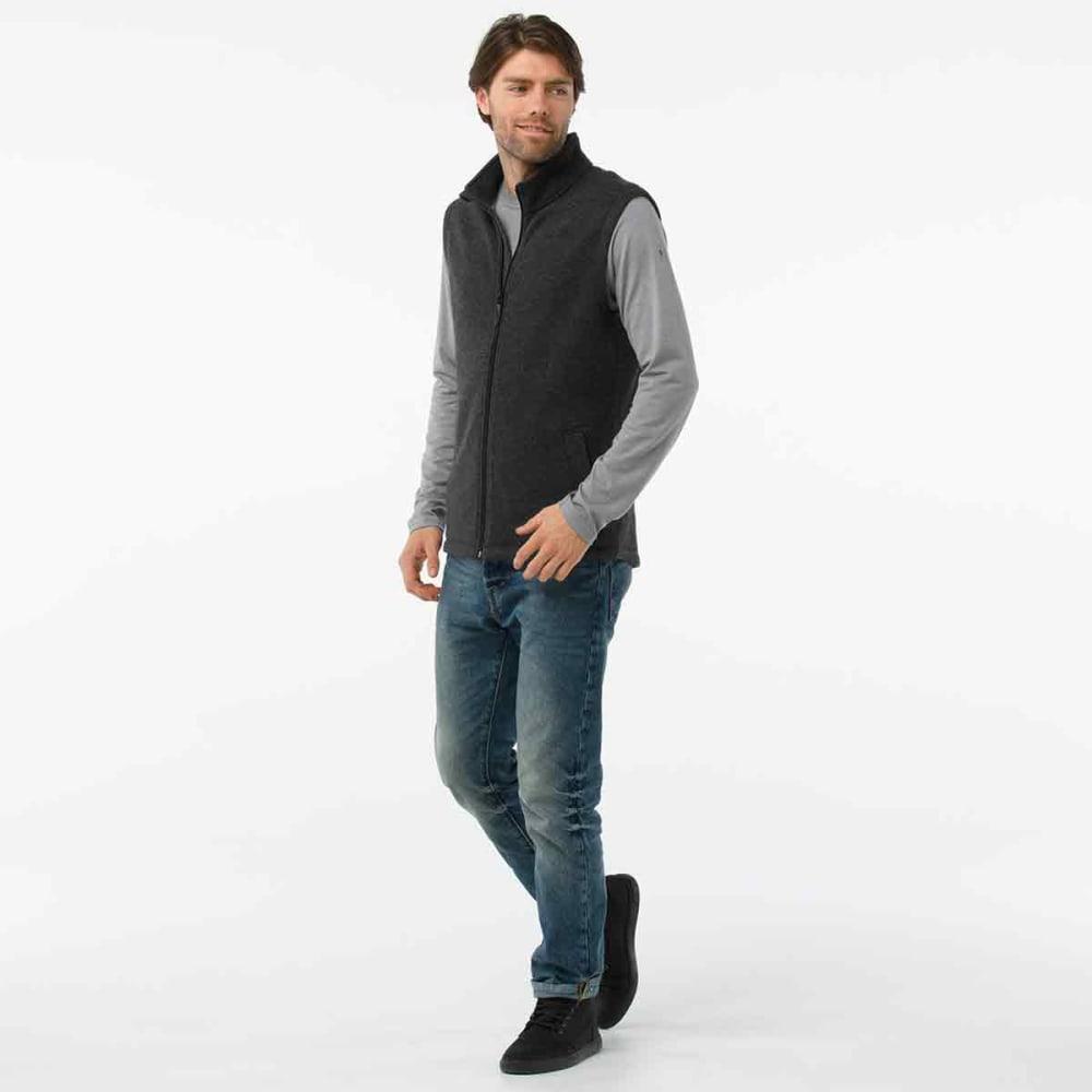 SMARTWOOL Men's Hudson Trail Fleece Vest - a53-dark charcoal