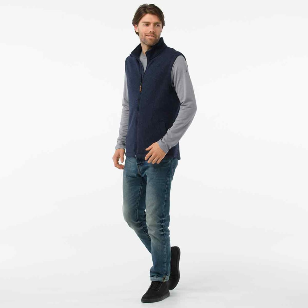 SMARTWOOL Men's Hudson Trail Fleece Vest - 410-NAVY