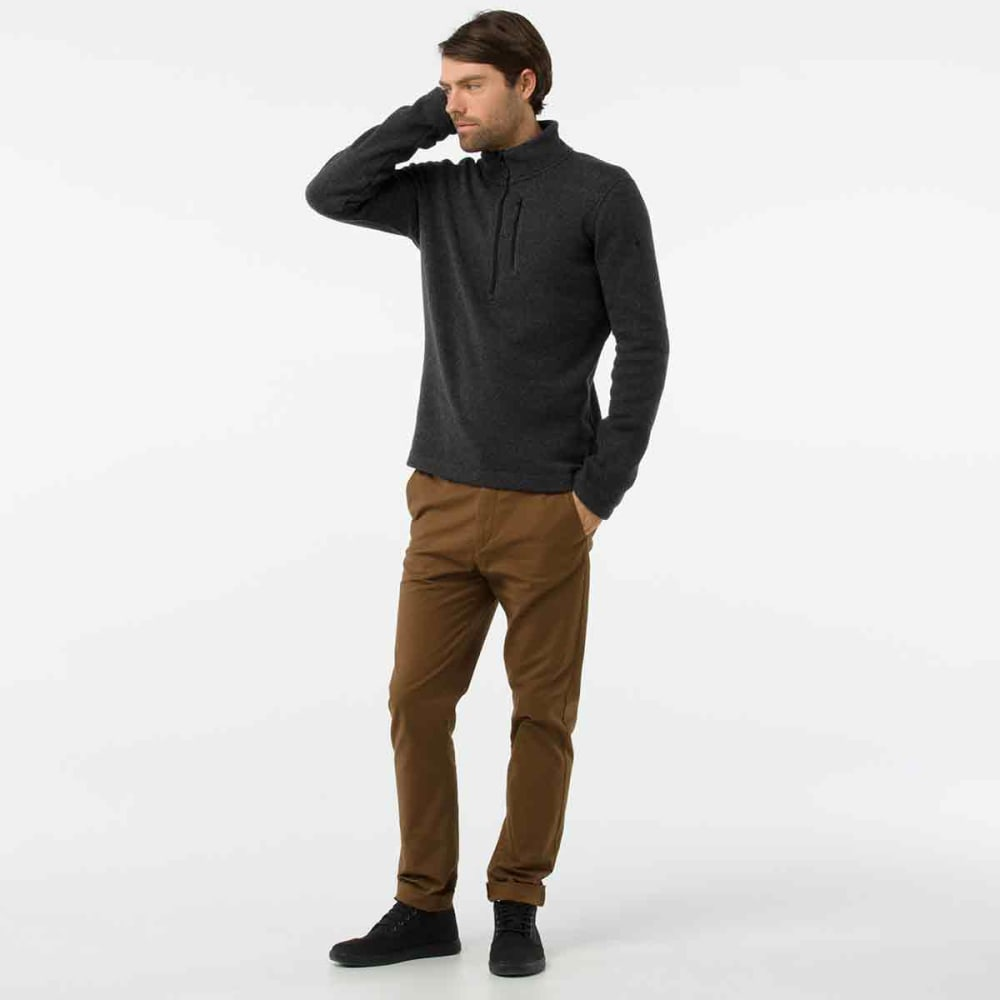 SMARTWOOL Men's Hudson Trail Fleece Half-Zip Sweater - a53-dark charcoal