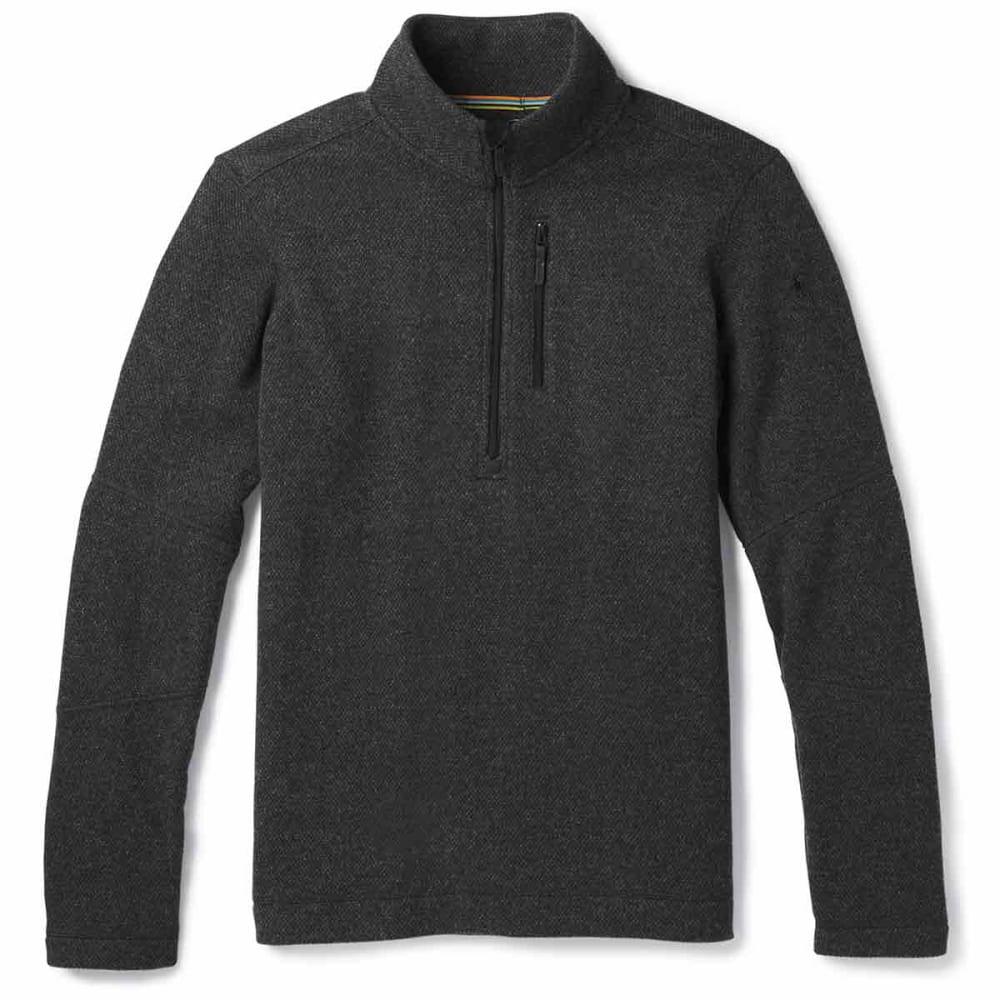 SMARTWOOL Men's Hudson Trail Fleece Half-Zip Sweater - a53-dark charcoal