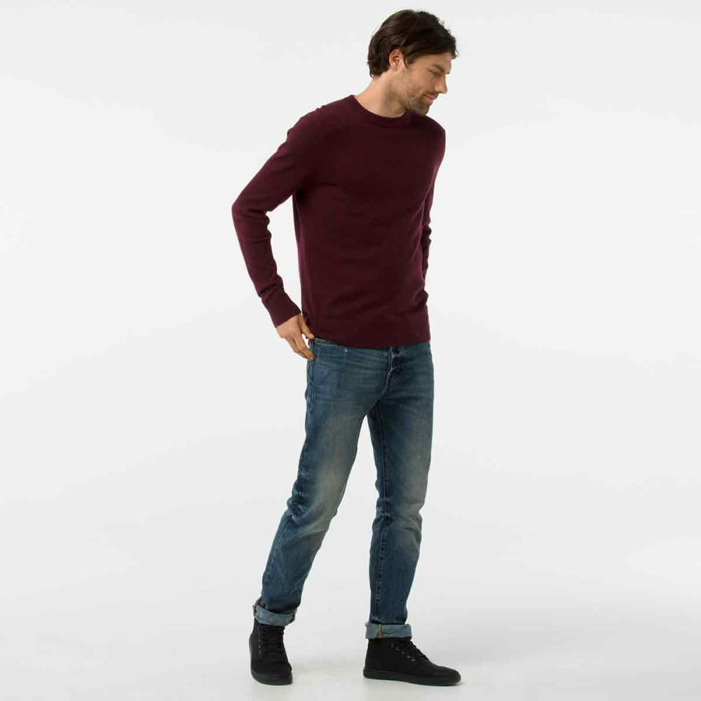 SMARTWOOL Men's Sparwood Crew Sweater - A24-FIG HEATHER