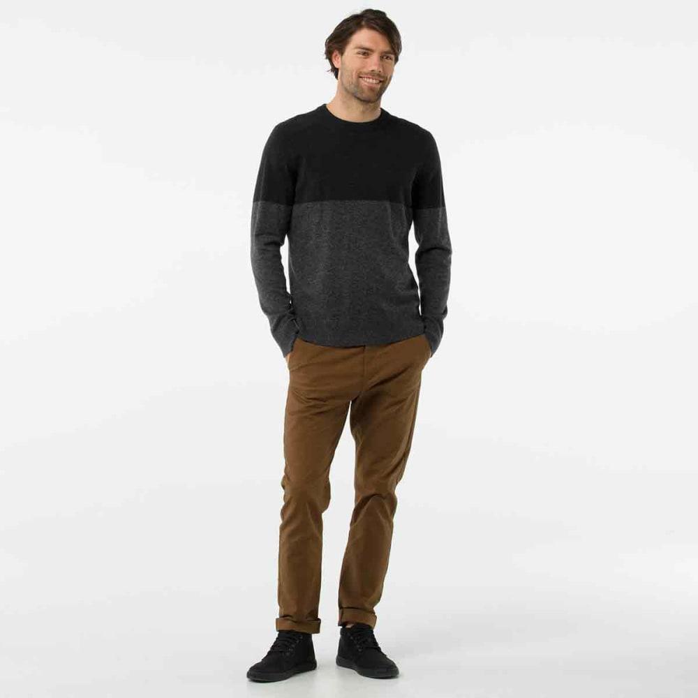SMARTWOOL Men's Sparwood Colorblock Crew Sweater - 010-CHARCOAL HEATHER