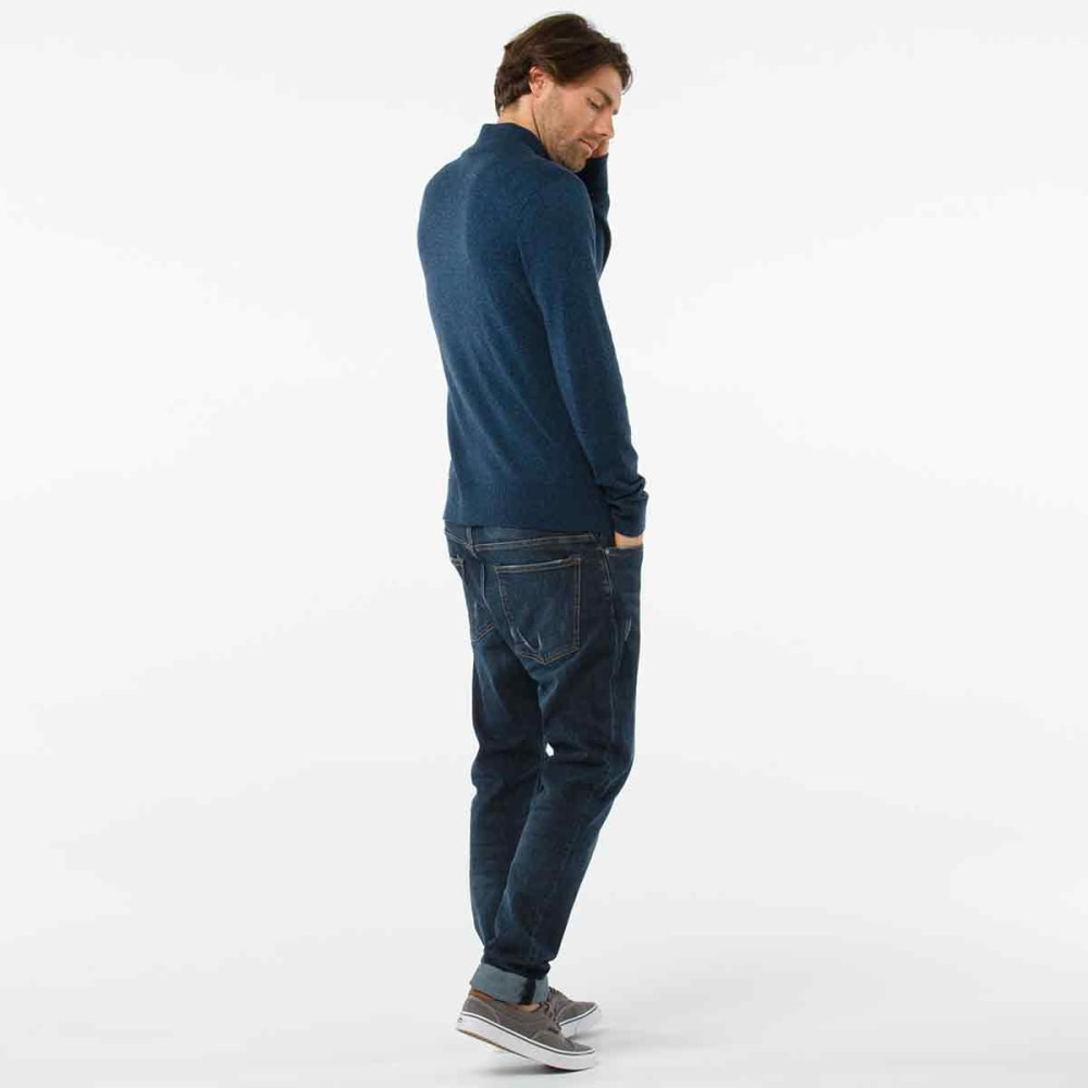 SMARTWOOL Men's Sparwood Half-Zip Sweater - A69-DEEP NAVY