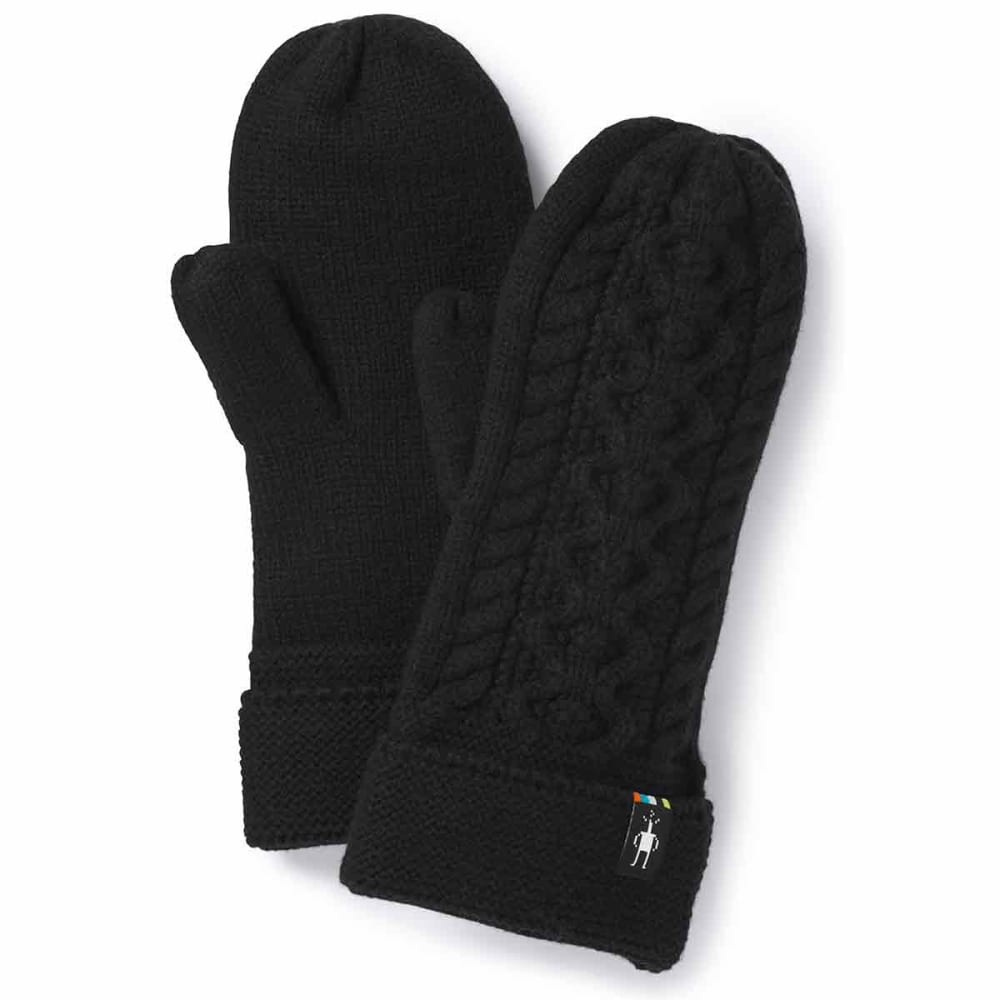 SMARTWOOL Women's Bunny Slope Mittens - 001-BLACK