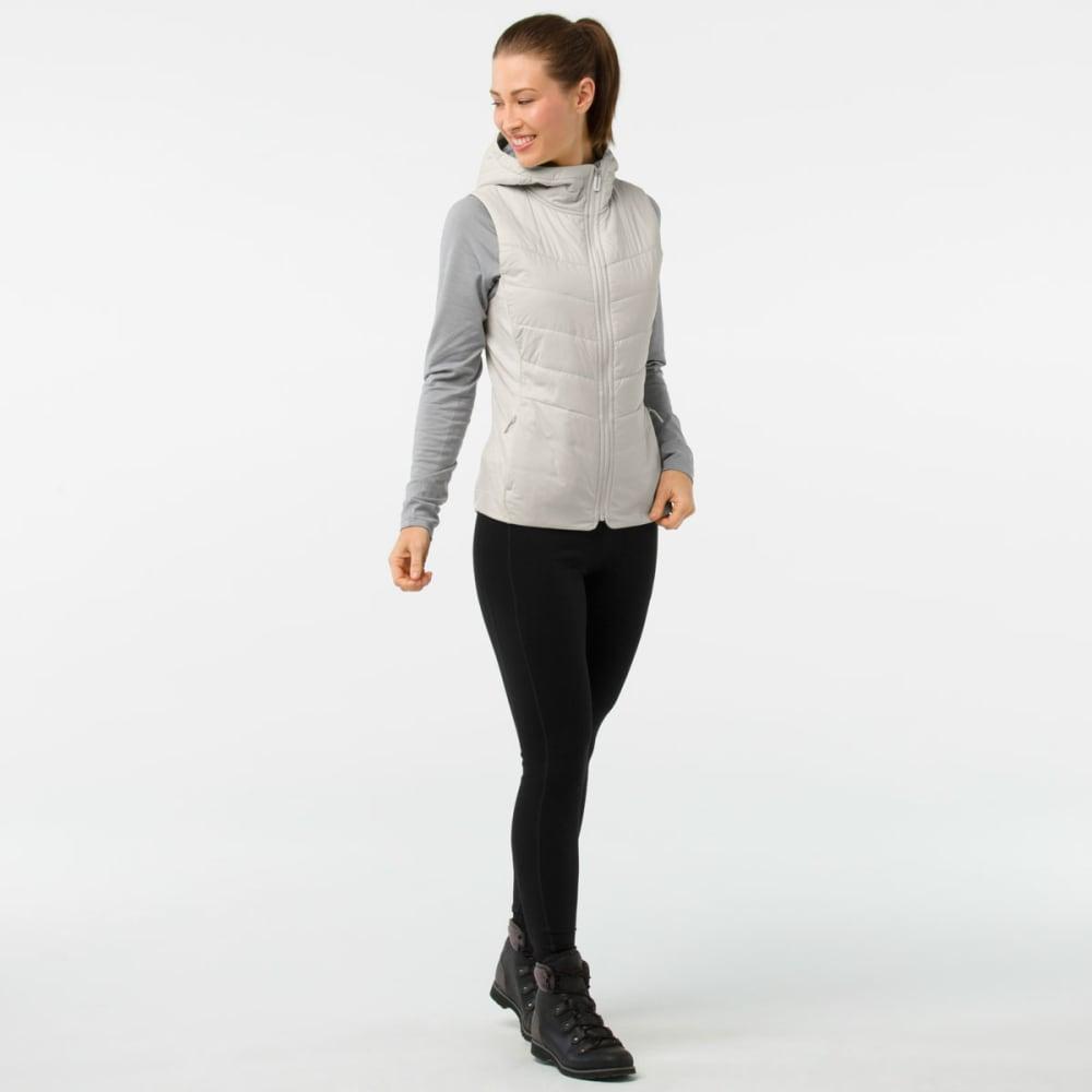 SMARTWOOL Women's Smartloft 60 Hoodie Vest - B05-SILVER BIRCH
